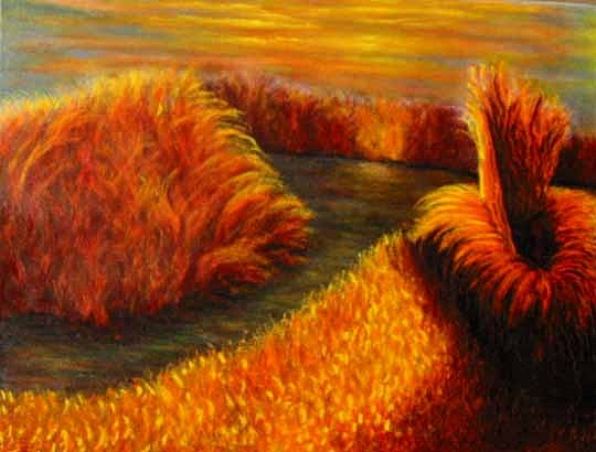 Landscape Painting - Horicon Marsh by Patricia Obletz