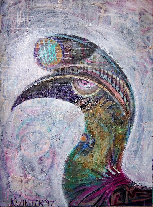 Bird Mixed Media - Hornbill by Dave Kwinter