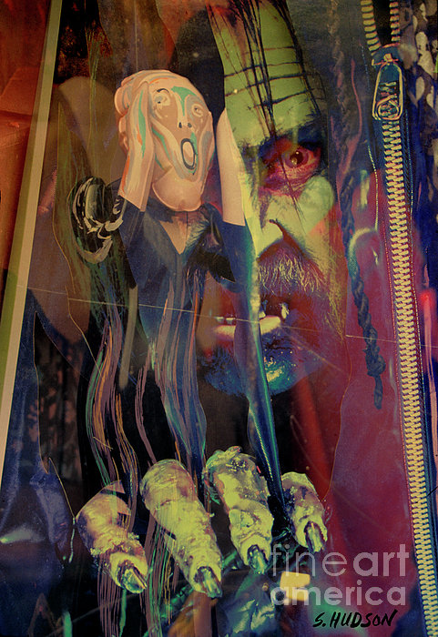 Horror Photograph - horror fantasy art - The Green Scream by Sharon Hudson