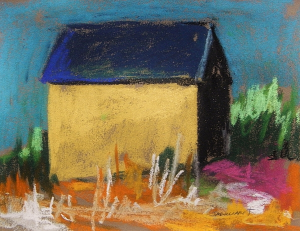 Yellow Barn Painting - Horse Farm Barn by John Williams