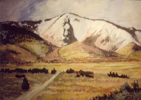 Landscape Painting - Horse Head Mountain by JoAnne Corpany