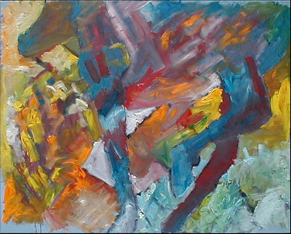 Abstract Expressionism Painting - Horse In Stride by Robert Standlee