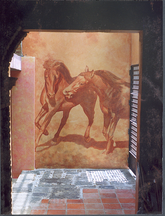 Horses Painting - Horse Mural by Stephen Wintershaw