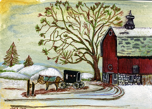Painting Painting - Horse n Buggy by Susan Anderson