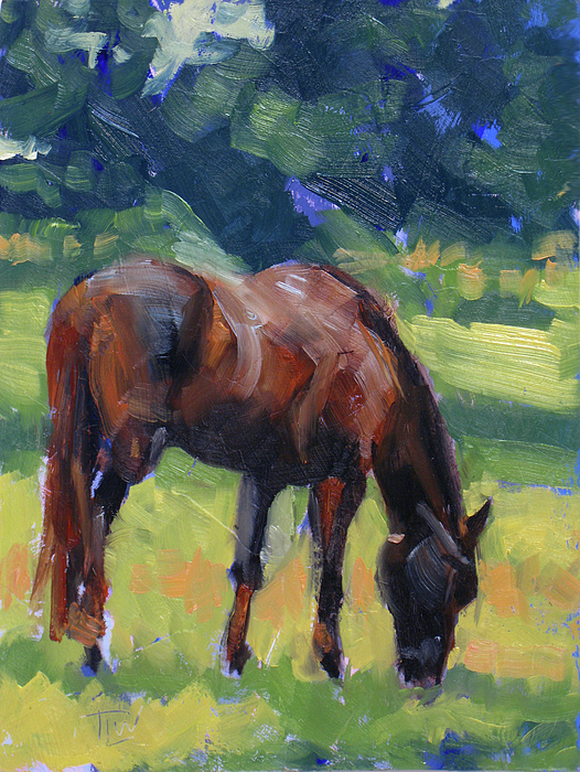 Horse Painting - Horse Study No.40 by Tracy Wall