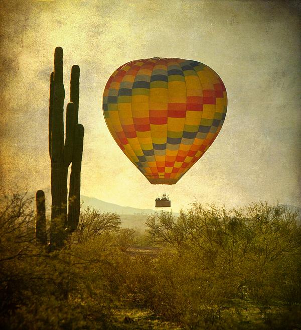 Arizona Photograph - Hot Air Balloon Flight Over The Southwest Desert by James BO  Insogna