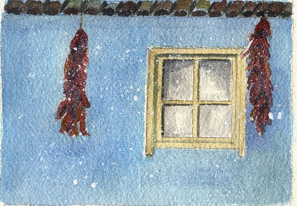 Window Painting - Hot Chiles by Jane Croteau