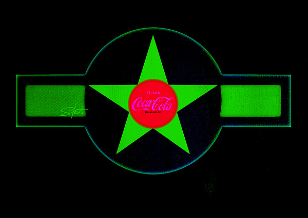 Label Painting - Hot Red On Cool Green by Charles Stuart