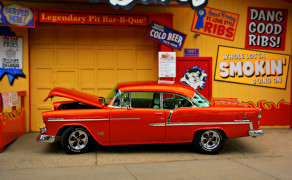 Car Photograph - Hot Rod Bbq by Perry Webster
