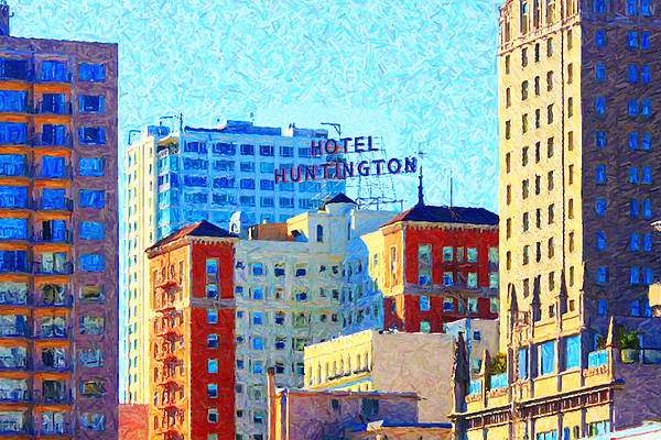 San Francisco Photograph - Hotel Huntington by Wingsdomain Art and Photography