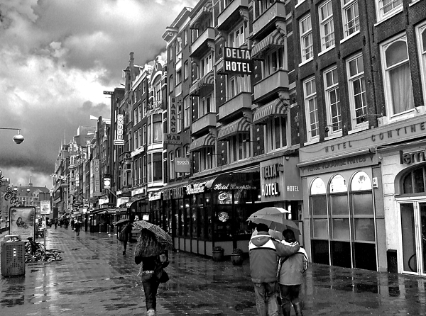 Amsterdam Photograph - Hotel Row -- Amsterdam In November by Mark Sellers