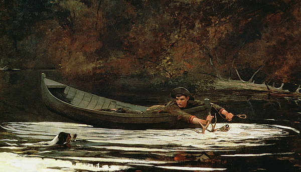 Hound And Hunter Painting - Hound And Hunter by Winslow Homer