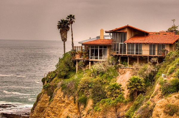House Photograph - House On Crescent Bay by Itay Dollinger