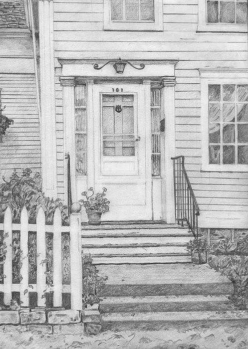 Old Homes Drawing - House On Nicollet Island by Sue Olson
