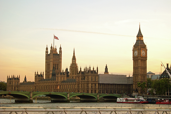 Horizontal Photograph - Houses Of Parliament From The South Bank by Sharon Vos-Arnold