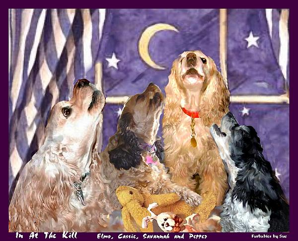 Halloween Painting - Howl-o-ween by Sue Alandar