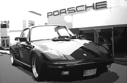 Porsche Painting - Hrs Porsche-commissioned Painting by Michael James  Toomy