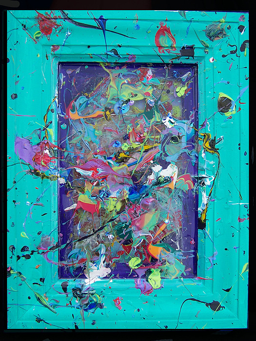 Abstract Painting - Huberts Journey Through Color by Nino  B