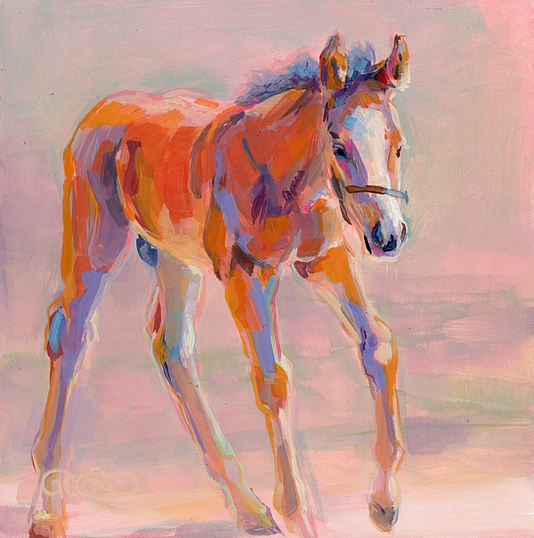 Thoroughbred Painting - Hugo by Kimberly Santini