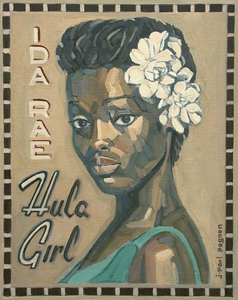 Hula Girl Painting by Jean-paul PAGNON