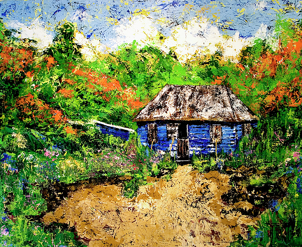 Caribbean Painters Painting - Humble Beginnings by Nickola McCoy-Snell