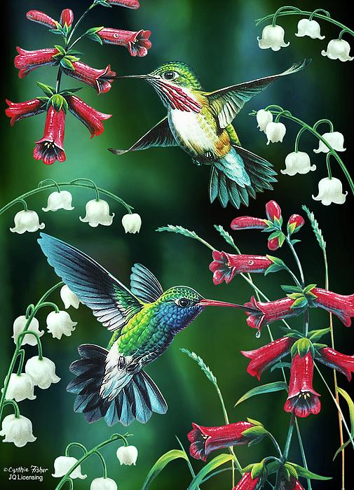 Humming Bird Painting - Humming Birds 2 by JQ Licensing