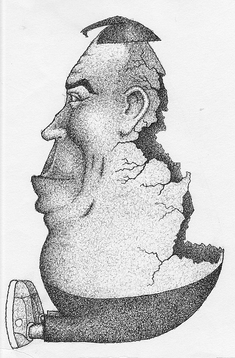 Humpty Dumpty Drawing - Humpty Dumpty by Erik Loiselle