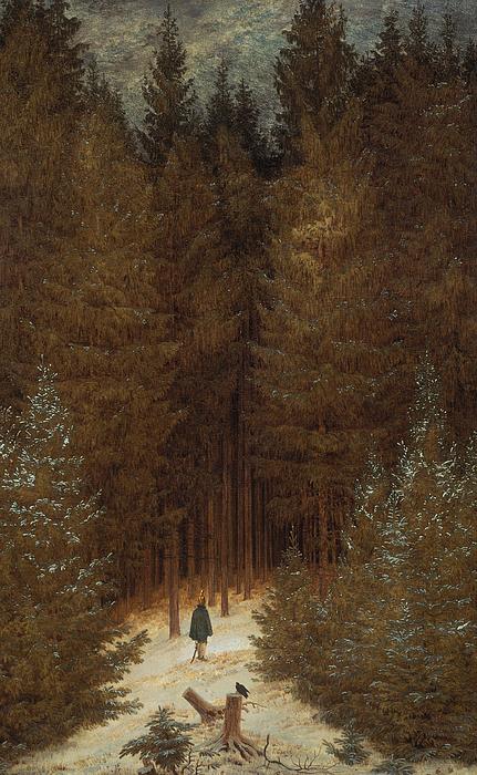 Caspar David Friedrich Painting - Hunter In The Forest  by Caspar David Friedrich