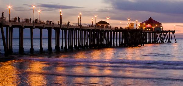Pier Photograph - Huntington Beach Pier by Charlie Hunt