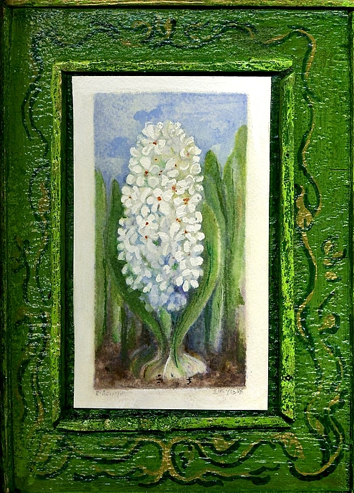 Flower Painting - Hyacinth by Elle Smith Fagan