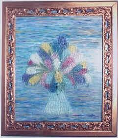 Glass Mosaic Mixed Media - Hyacinths by Anneliese Fritts