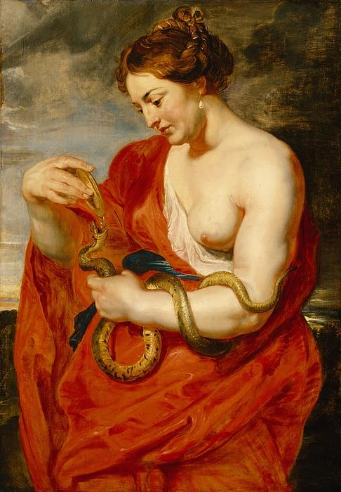 Hygeia Painting - Hygeia - Goddess Of Health by Peter Paul Rubens