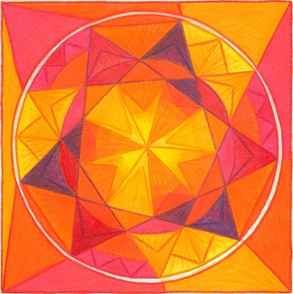 Mandala Drawing - I Am Courageous by Ulla Mentzel