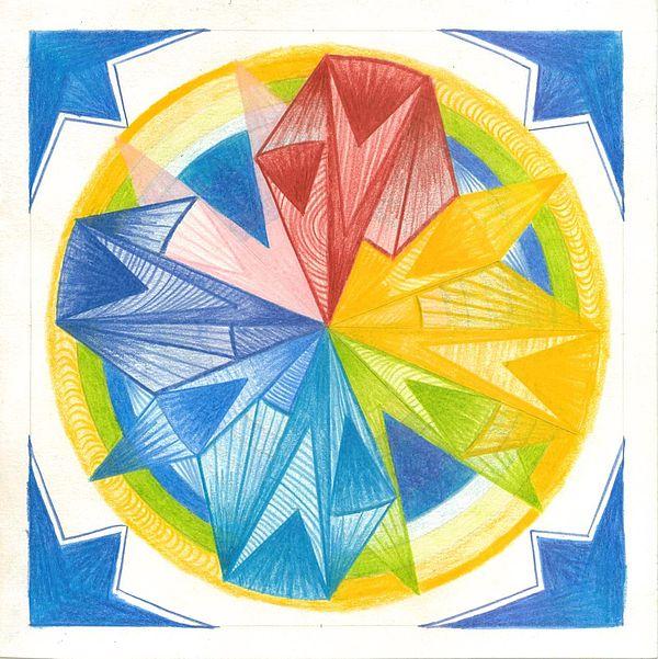 Mandala Drawing - I Am Forgiveness by Ulla Mentzel