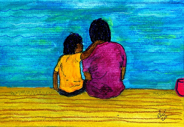 Greeting Cards Painting - I Got You by Angela L Walker