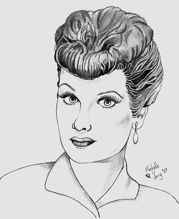 lucille ball coloring pages | I Love Lucy Drawing by Michelle Young