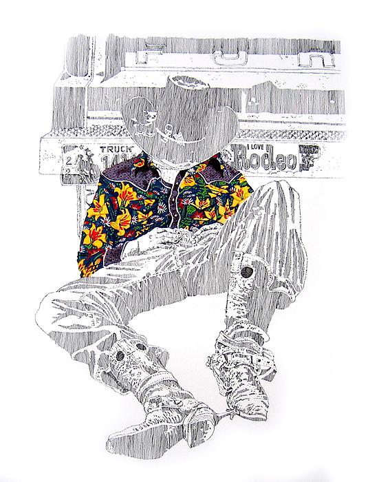 I Love Rodeo Print by Martin Goldman