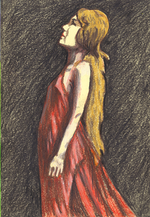 Woman Drawing - I Saw The Light by Jean Haynes
