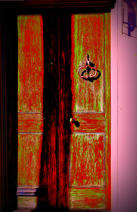 Old Door Photograph - I Stand At The Door And Knock by Jill Tennison