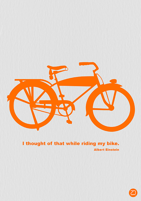 Bicycle Photograph - I Thought Of That While Riding My Bike by Naxart Studio