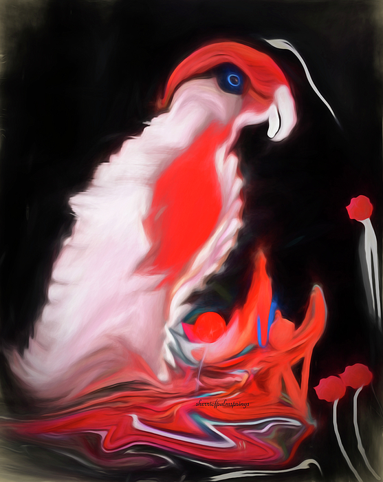 Bird Digital Art - I Want A Cracker by Sherris Of Palm Springs