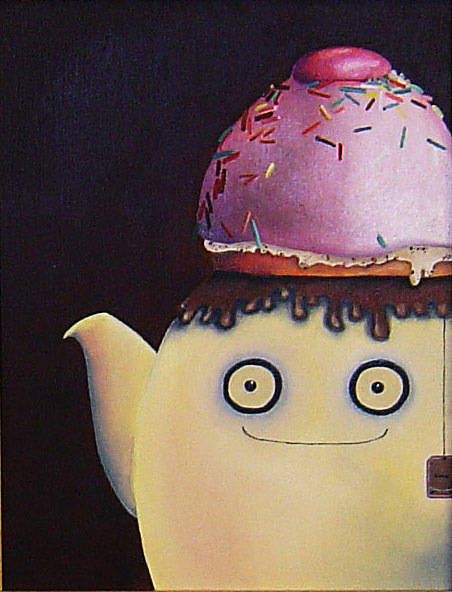 Teapot Painting - I Will Fill You With Love by Anastassia Neislotova