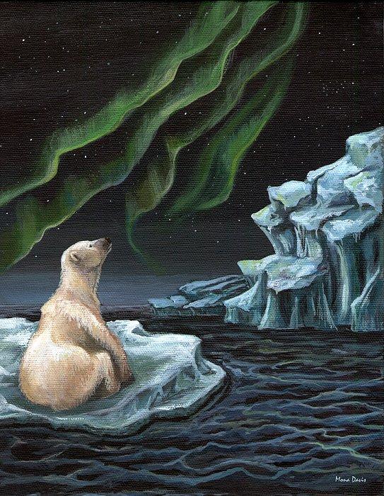 Ice Painting - I Wonder... by Mona Davis