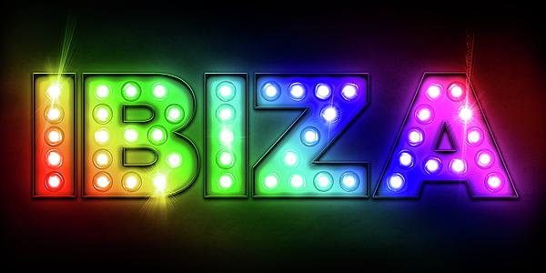 Ibiza Digital Art - Ibiza In Lights by Michael Tompsett