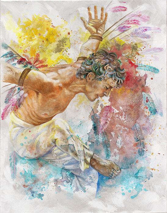 Man Painting - Icarus by Rineke De Jong