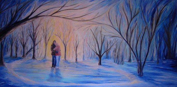 Ice And Ebers Painting - Ice And Embers by Daniel W Green
