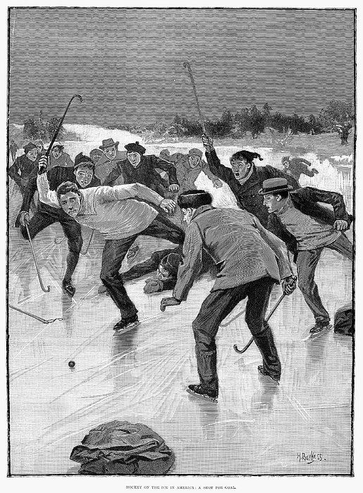 1898 Photograph - Ice Hockey, 1898 by Granger