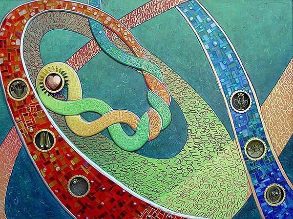 Abstract Mixed Media - Icon - Legacy  by Marcia Joffe-Bouska