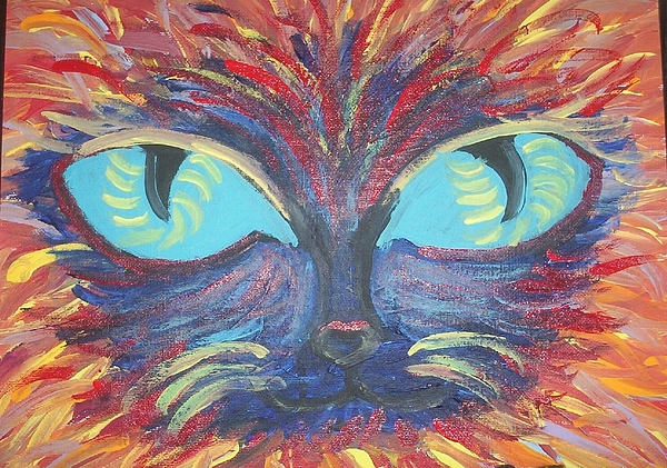Cats Painting - ICU by Lindsay St john