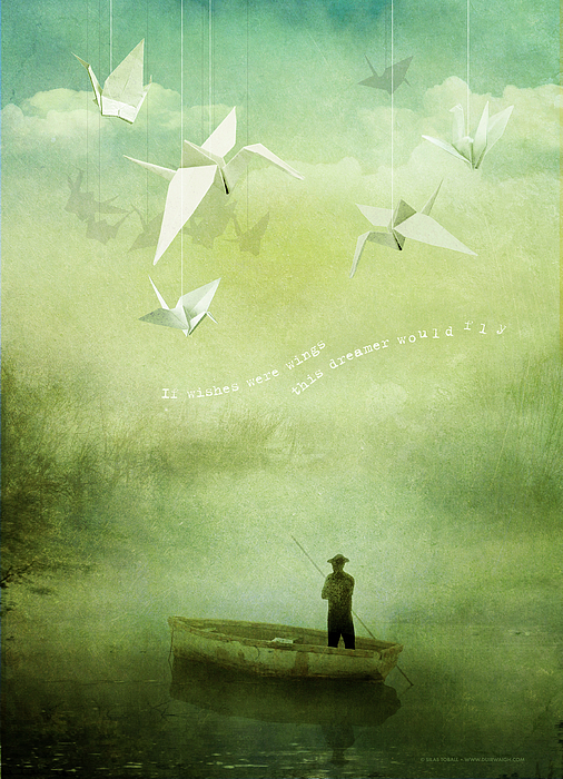 Wishes Digital Art - If Wishes Were Wings by Silas Toball